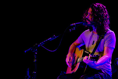 Chris Cornell playing an acoustic live show