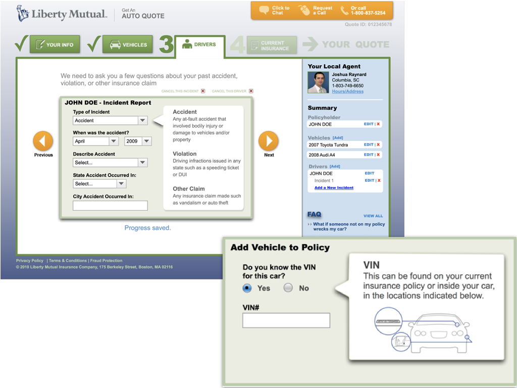 Liberty Mutual Auto Insurance Quote Liberty Mutual Auto Insurance Quote Redesign  Daniel Loewusdeitch
